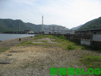 旧片上駅構内の貨物ヤード跡